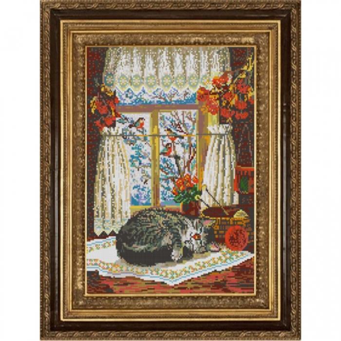 Рисунок на ткани (Бисер) КОНЁК арт. 9984 Домашний уют 29х39 см