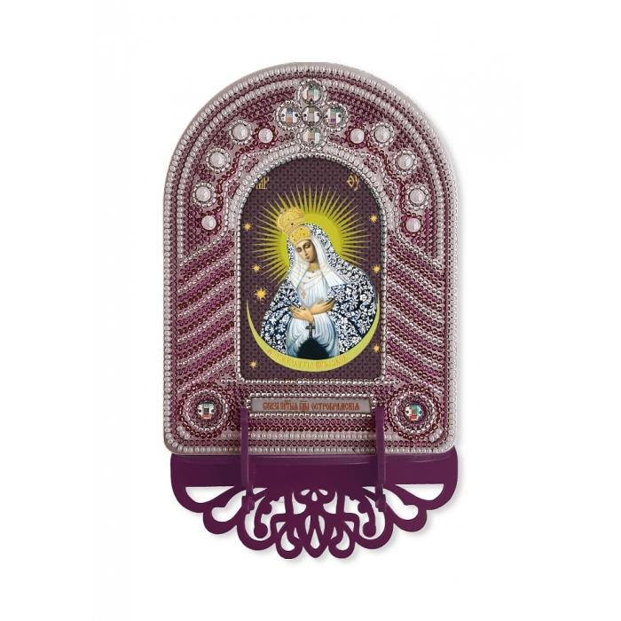 Набор для вышивания бисером НОВА СЛОБОДА арт.ВК1027 Богородица Остробрамская 10х13 см