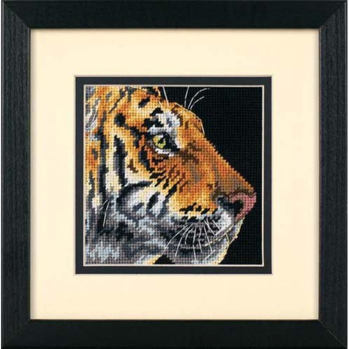 Набор для вышивания DIMENSIONS арт.DMS-07225 Величественный тигр 13х13 см