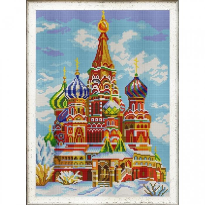 Рисунок на ткани (Бисер) КОНЁК арт. 9998 Храм Василия Блаженного 29х39 см