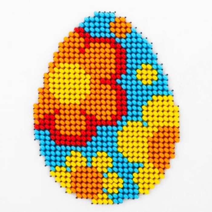 Набор для вышивания бисером LOUISE арт. L427 Пасхальное яйцо 11х11 см