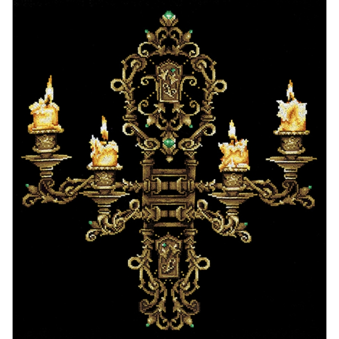 Набор для вышивания СДЕЛАЙ СВОИМИ РУКАМИ арт.В-28 Вечер при свечах 43х48 см
