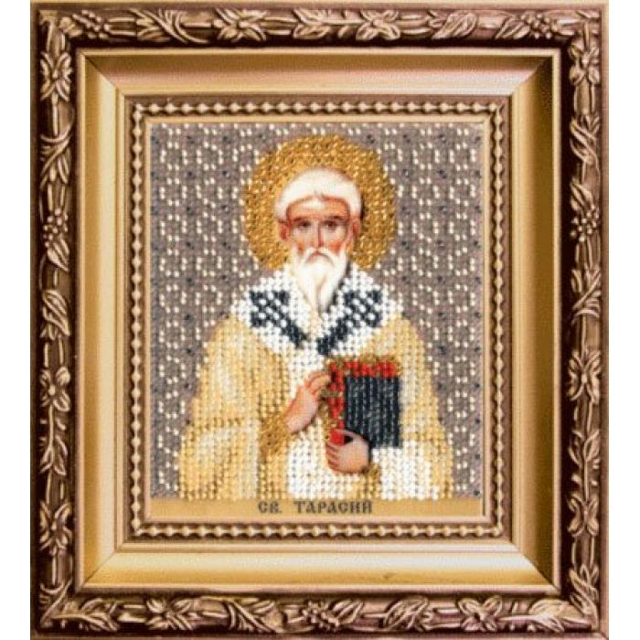 Набор для вышивания бисером ЧАРИВНА МИТЬ арт.Б-1193 Икона святого Тарасия епископа Константинопольского 9х11 см