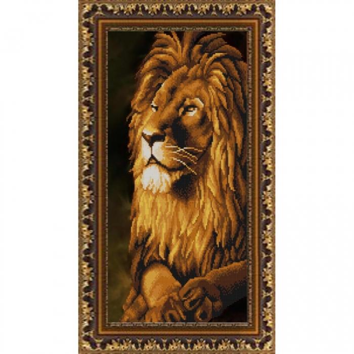 Рисунок на ткани (Бисер) КОНЁК арт. 9844 Лев 25х45 см