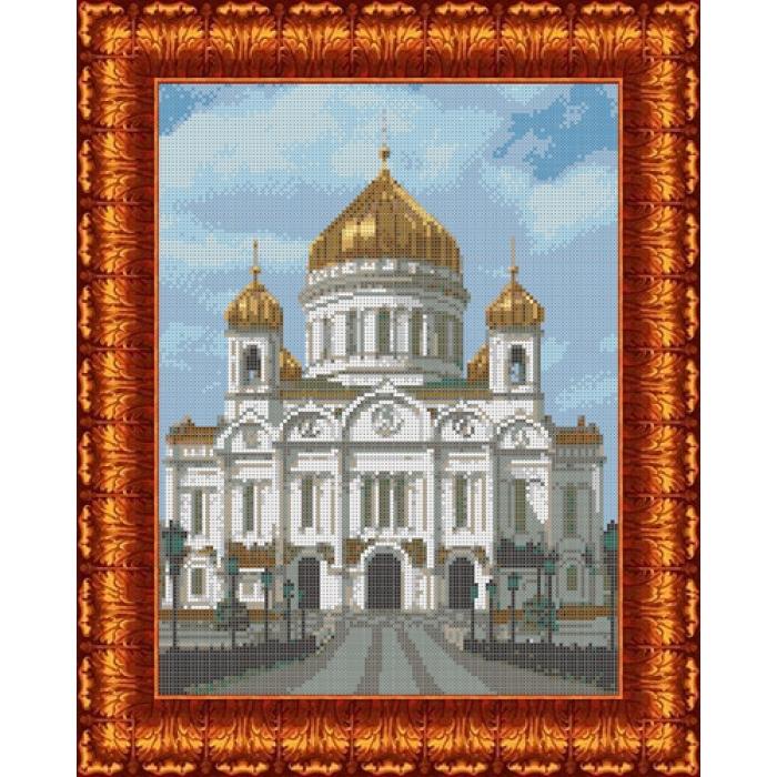 Канва с нанесенным рисунком КАРОЛИНКА арт. КК-024 Храм Христа Спасителя 23х30 см