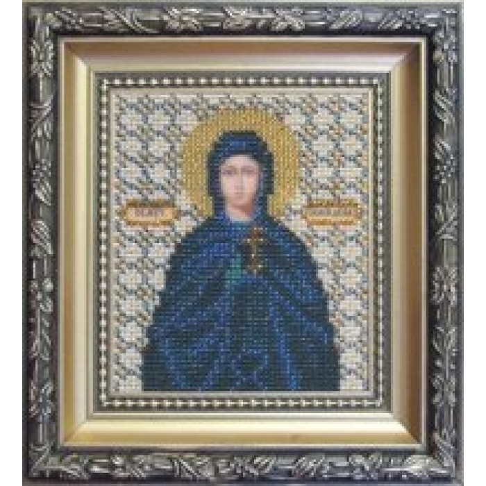 Набор для вышивания бисером ЧАРИВНА МИТЬ арт.Б-1066 Икона святой мученицы Иулии (Юлии) 9х11 см