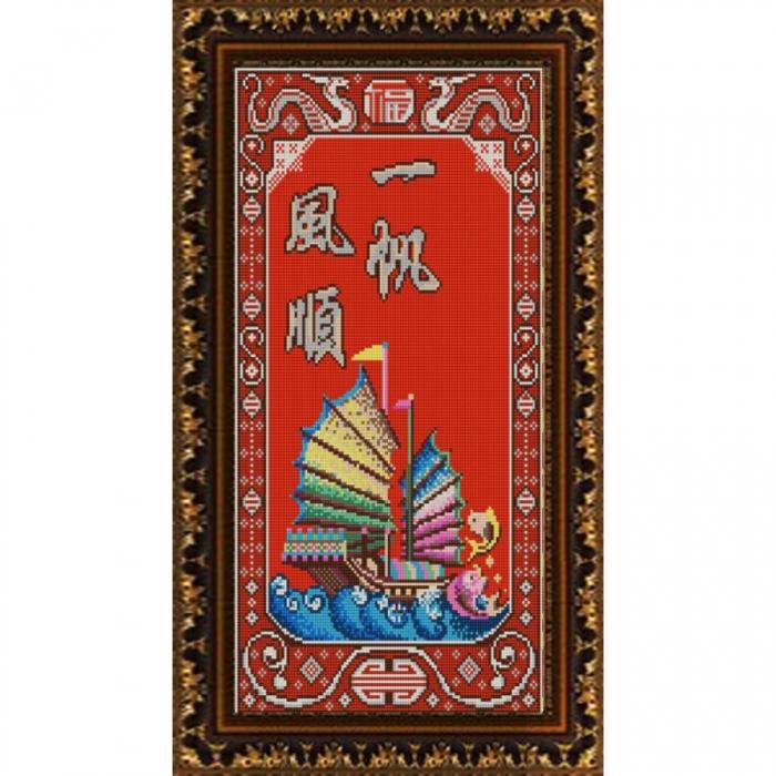 Рисунок на ткани (Бисер) КОНЁК арт. 9877 Удача в бизнесе 25х45 см
