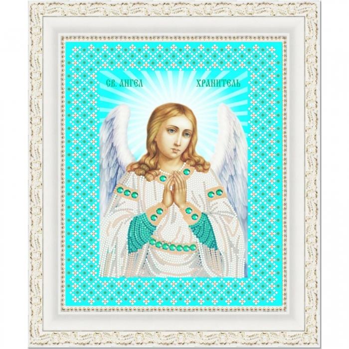 Рисунок на ткани (Бисер) КОНЁК арт. 7108 Св. Ангел Хранитель 20х25 см