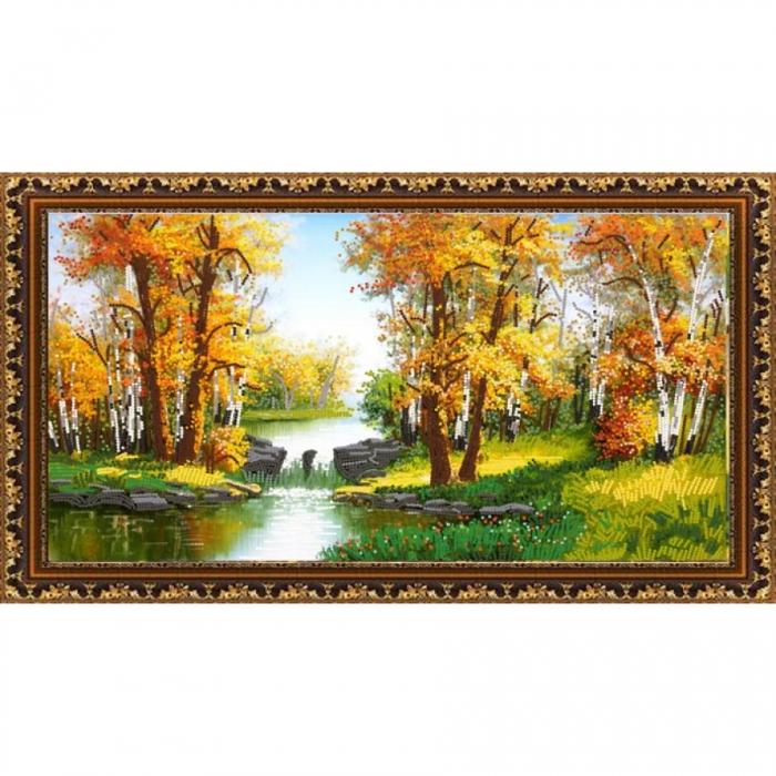 Рисунок на ткани (Бисер) КОНЁК арт. 8408 Уж небо осенью дышало 25х45 см