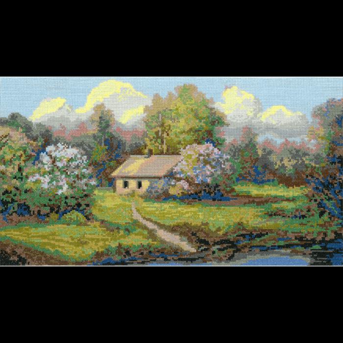 Набор для вышивания мулине НИТЕКС арт.0023 Полдень 44х26 см