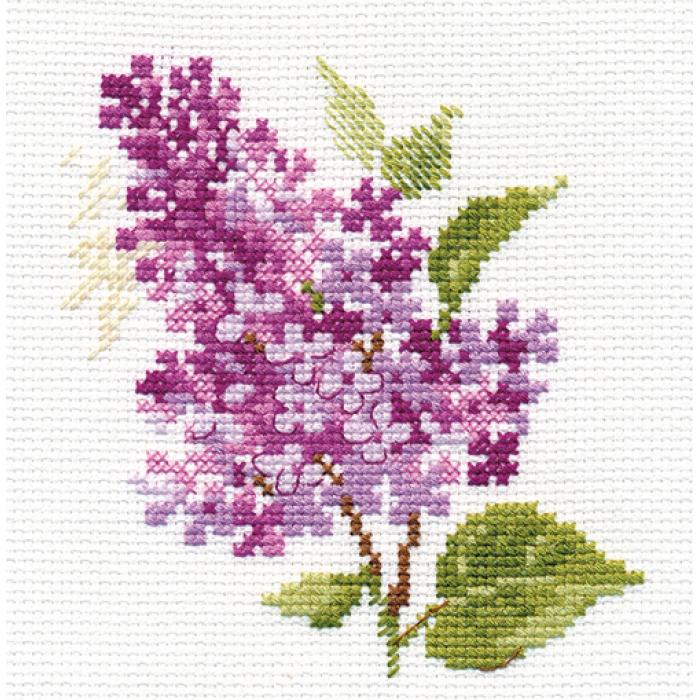 Набор для вышивания АЛИСА арт.0-138 Веточка сирени 11х11 см