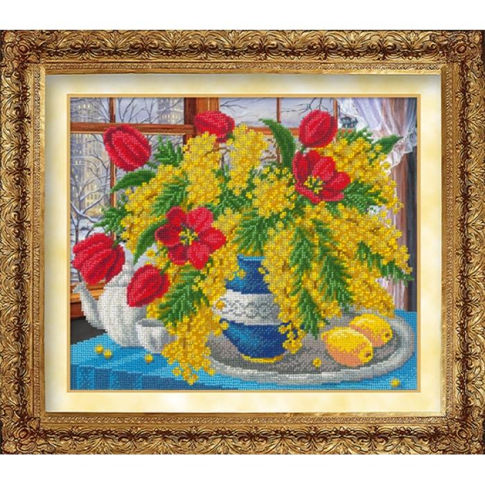 Набор для вышивания бисером РУССКАЯ ИСКУСНИЦА арт.1022 Симфония весны 31х26 см