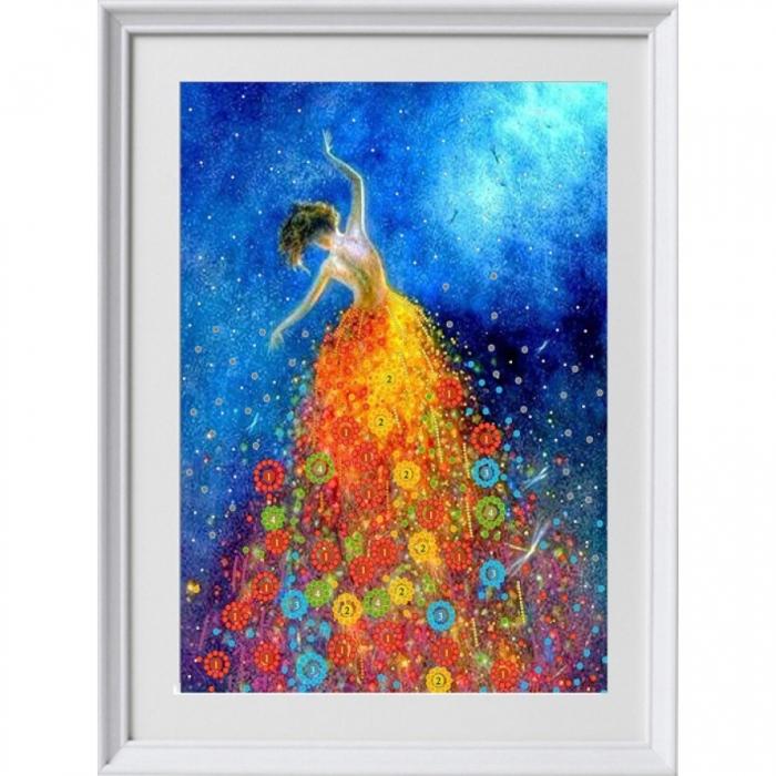 Рисунок на ткани (Бисер) КОНЁК арт. 8491 Танцующая в темноте 29х39 см