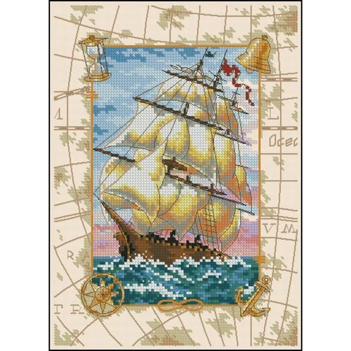 Набор для вышивания DIMENSIONS арт.DMS-06847 Морской вояж 13х18 см