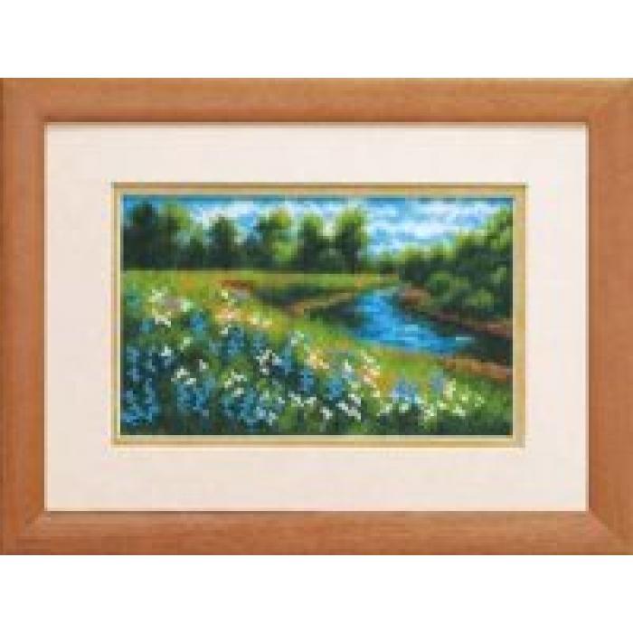 Набор для вышивания бисером ЧАРИВНА МИТЬ арт.Б-048 Цветочная поляна 19,5х12 см