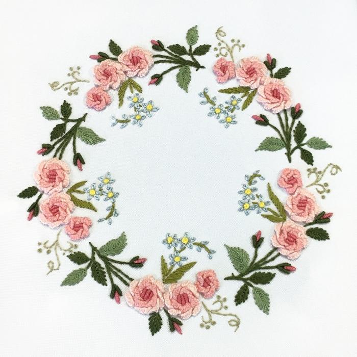 """Набор для вышивания PANNA """"Живая картина"""" арт. JK-2140 Венок из роз 17х17 см"""