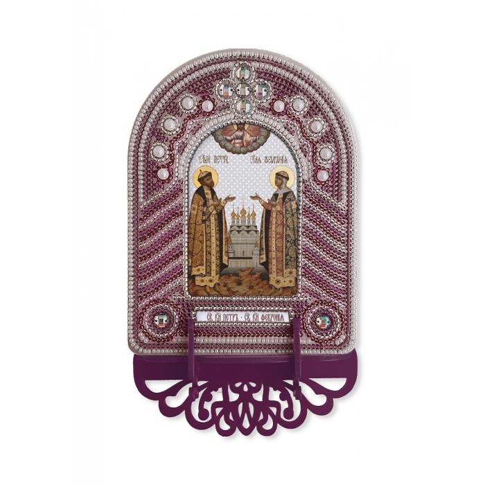 Набор для вышивания бисером НОВА СЛОБОДА арт.ВК1008 Святые Пётр и Февронья 10х13 см
