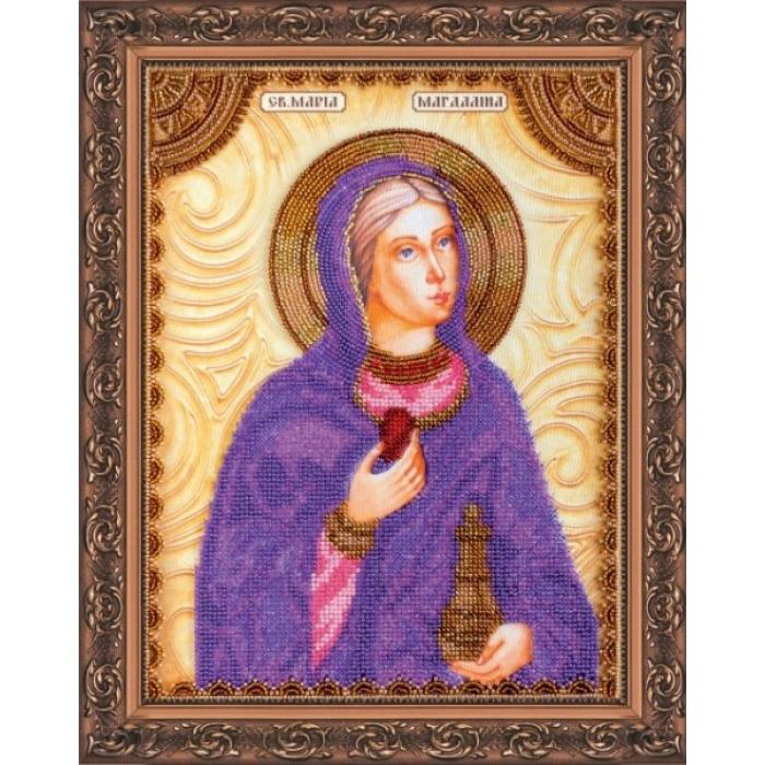 Набор для вышивания бисером АБРИС АРТ арт. AA-014 Св.Мария 23х30 см