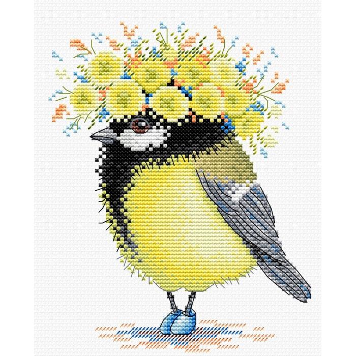 Набор для вышивания ЖАР-ПТИЦА арт.М-203 Солнечная пташка 18х15см