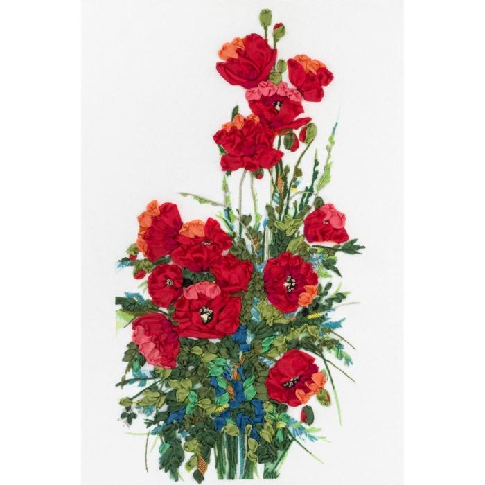 """Набор для вышивания PANNA """"Живая картина"""" арт. JK-2026 Маков цвет 19х33 см"""