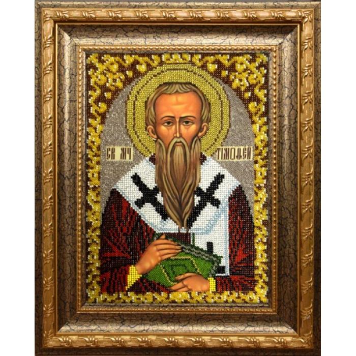 Набор для вышивания бисером ВЫШИВАЕМ БИСЕРОМ арт.L117 Святой Тимофей 19х26 см