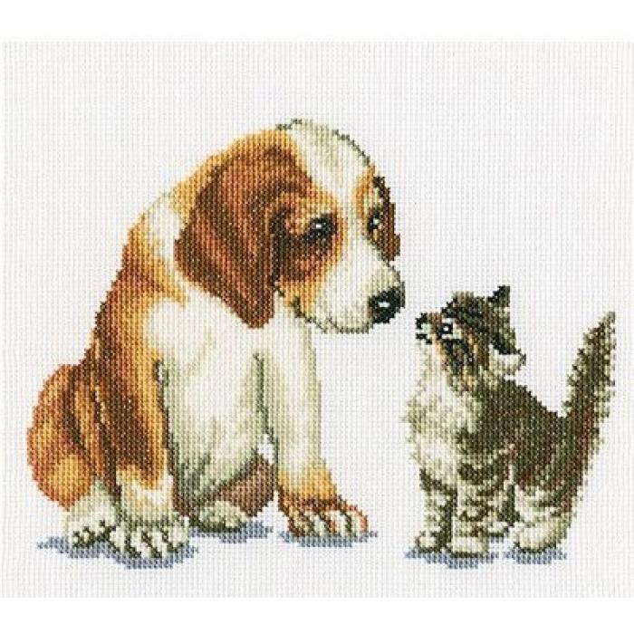 Набор для вышивания РТО арт.C196 Знакомство 18х14 см