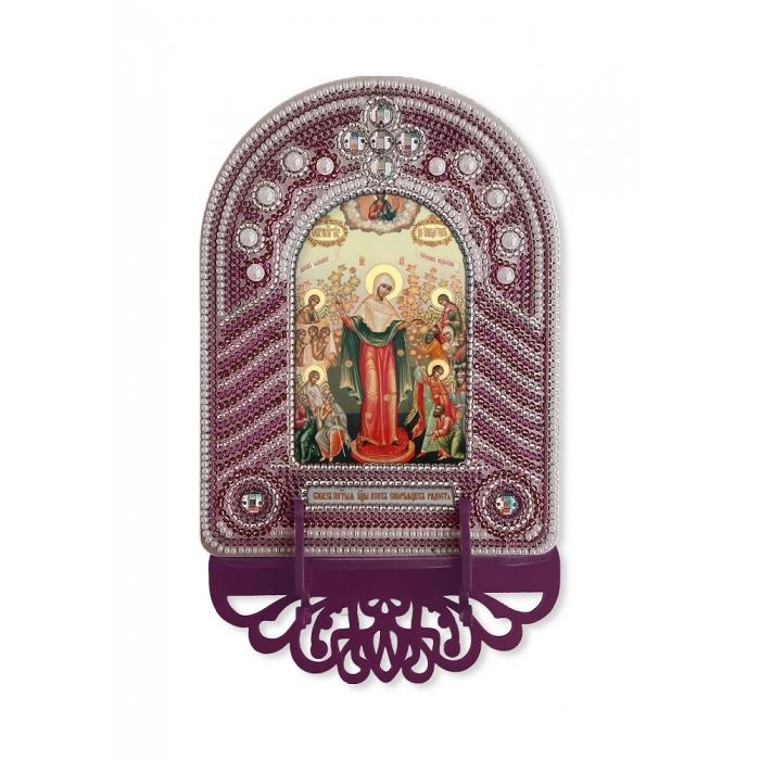 Набор для вышивания бисером НОВА СЛОБОДА арт.ВК1018 Богородица Всех Скорбящих Радость 10х13 см
