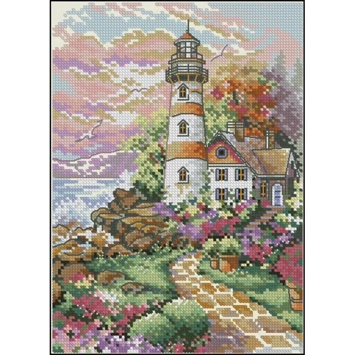 Набор для вышивания DIMENSIONS арт.DMS-06883 Полуденный маяк 13х18 см
