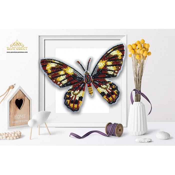 Пластиковая перфорированная основа БЛАГОВЕСТ арт.БС-125 3-D Бабочка 10х12 см