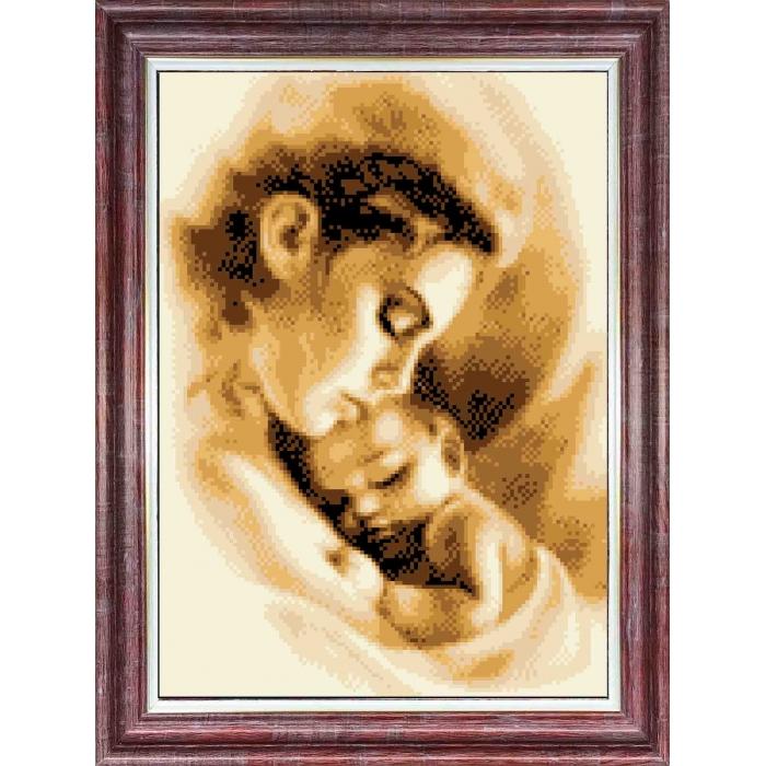 Канва с нанесенным рисунком КАРОЛИНКА арт. КК-052 Мать и ребенок 23х30 см