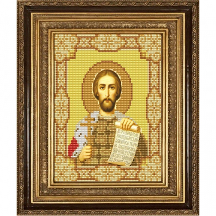 Рисунок на ткани (Бисер) КОНЁК арт. 9147 Святой Александр Невский 15х18 см