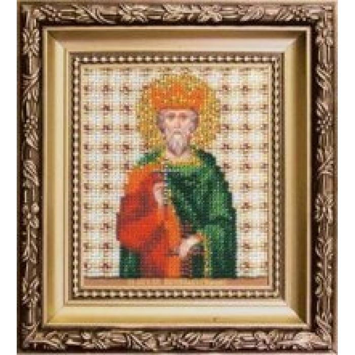 Набор для вышивания бисером ЧАРИВНА МИТЬ арт.Б-1146 Икона святого благоверного князя Вячеслава (Чешского) 9х11 см