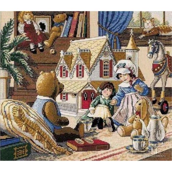 """Набор для вышивания Classic Design арт.4323 """"Кукольный домик"""" 35х30 см"""