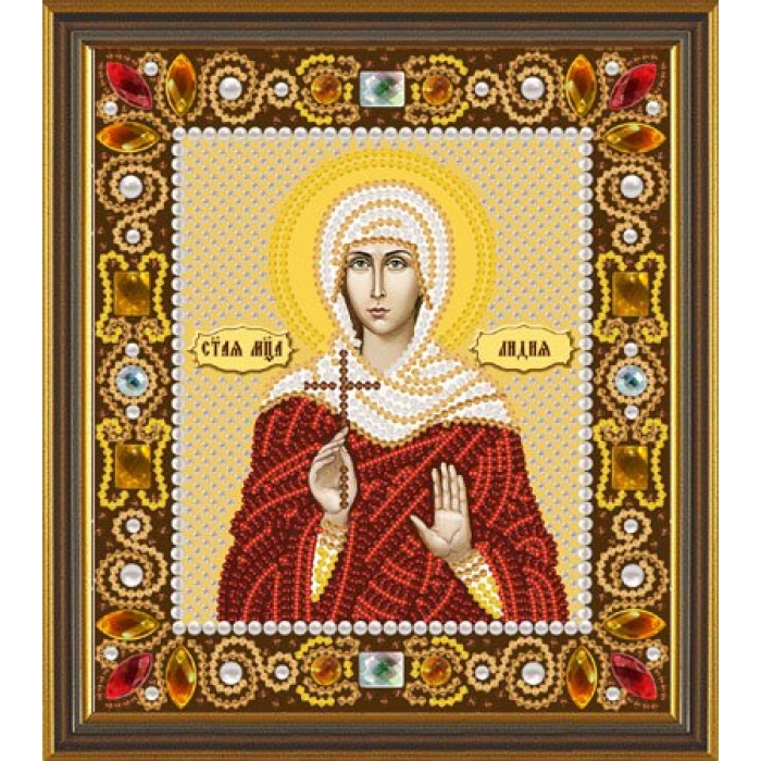 Набор для вышивания бисером НОВА СЛОБОДА арт.Д6158 Св.Лидия 13х15 см