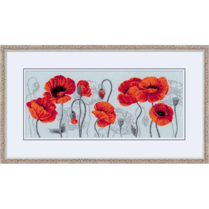 Набор для вышивания РИОЛИС арт.100/037 Алые маки 70х30 см