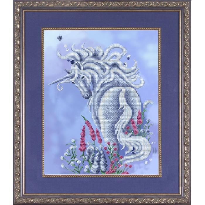 Набор для вышивания бисером СЛАВЯНОЧКА арт. НК-3020 Очарование 28,5х36,5 см