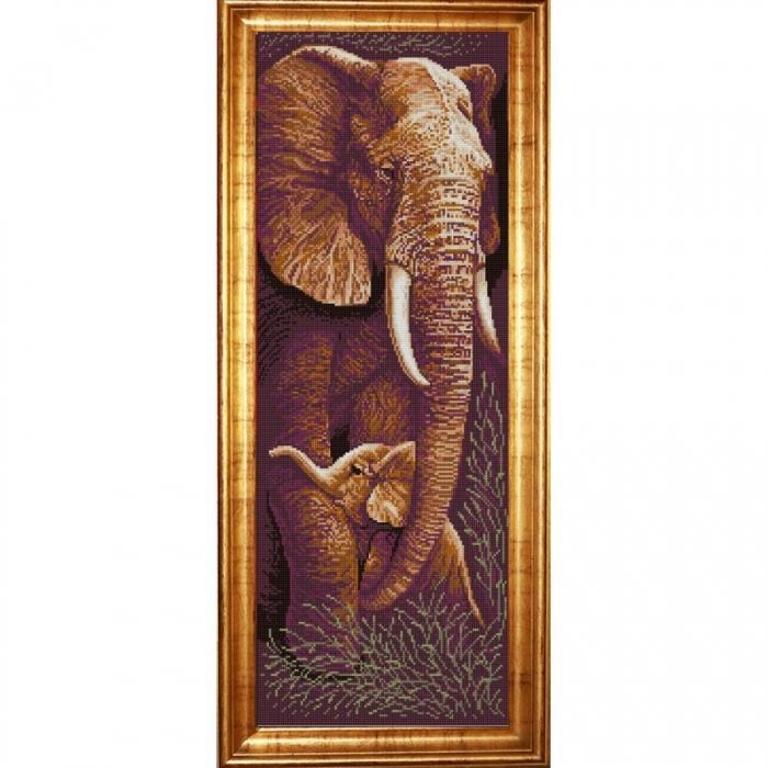 Рисунок на ткани (Бисер) КОНЁК арт. 1307 Звери. Мать и дитя 2 25х65 см