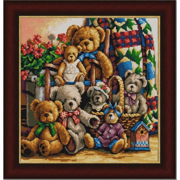 Рисунок на ткани (Бисер) КОНЁК арт. 9828 Мишки 40х40 см