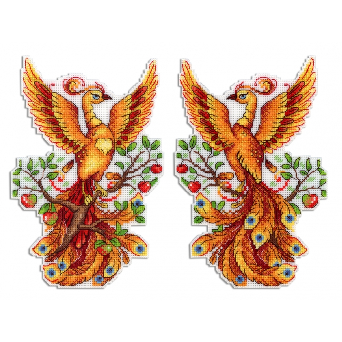 Набор для вышивания ЖАР-ПТИЦА арт.Р-483 Огненная птица 19х13 см