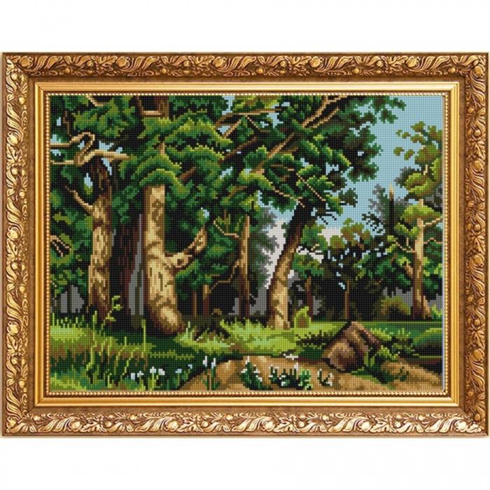 Рисунок на ткани (Бисер) КОНЁК арт. 9961 Дубовая роща (И. Шишкин) 29х39 см