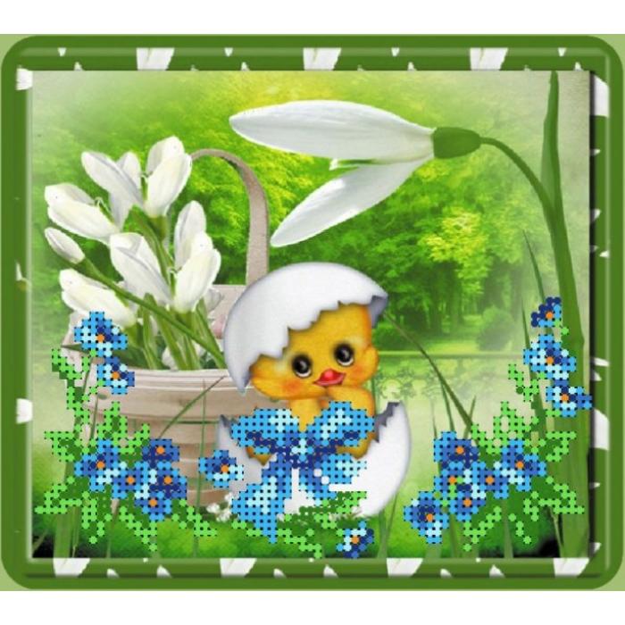 Набор для вышивания бисером с паспарту МАТРЕНИН ПОСАД арт.20,5х30,5 - 26/БП Пасхальная картинка 1