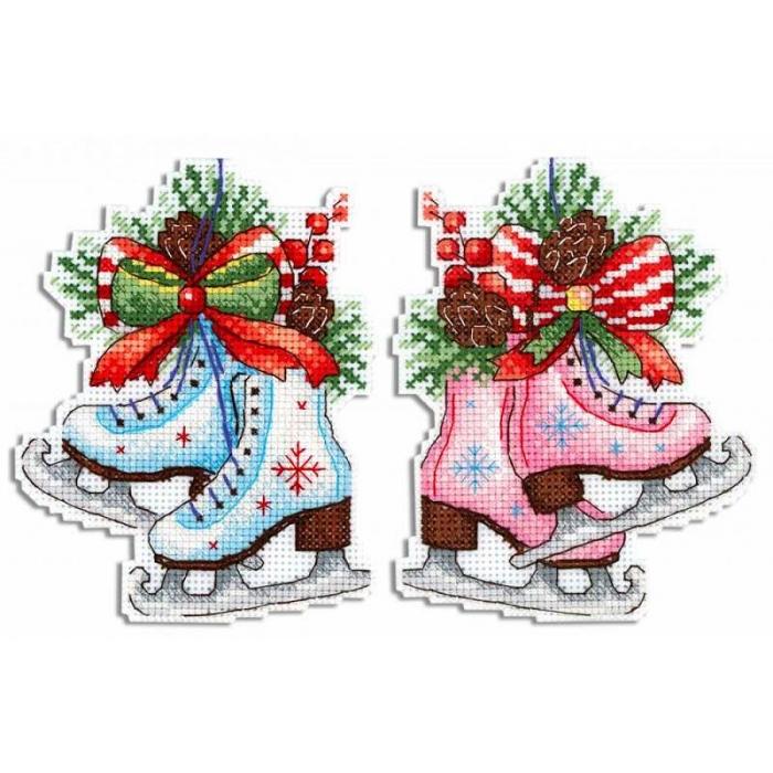 Набор для вышивания ЖАР-ПТИЦА арт.Р-497 Фигурный Новый год 13х10 см