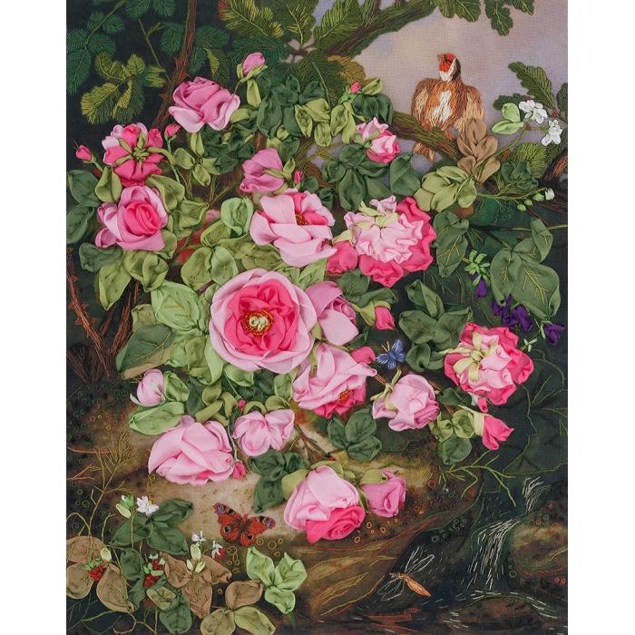 """Набор для вышивания PANNA """"Живая картина"""" арт. JK-2034 Розы королевы Виктории 25х19,5 см"""