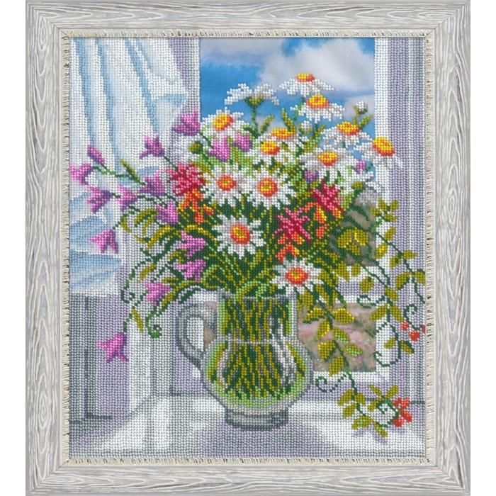Набор для вышивания бисером РУССКАЯ ИСКУСНИЦА арт.1024 Окно в лето 32х27 см