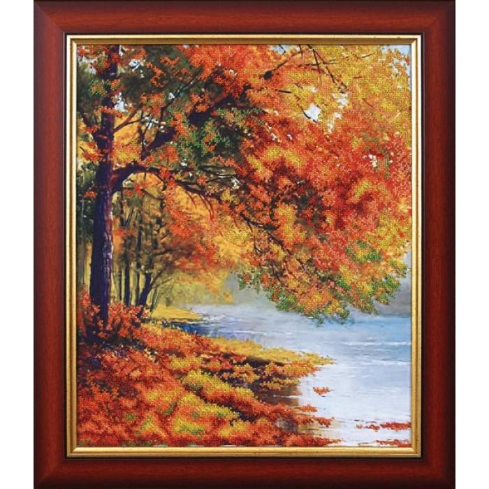 Набор для вышивания бисером МАГИЯ КАНВЫ арт.Б069 Осенний берег 34х42 см