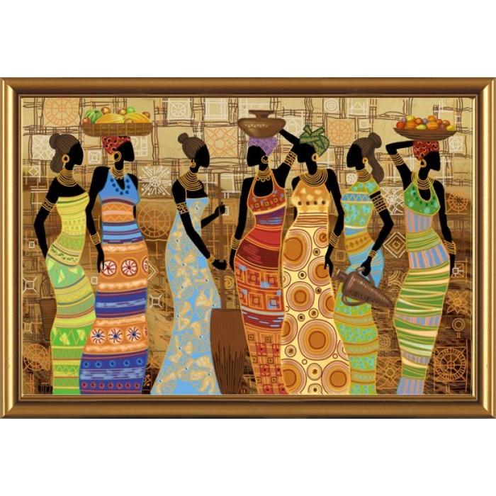 Набор для вышивания бисером НОВА СЛОБОДА арт.ДК1038 Африканские красавицы 76х50 см