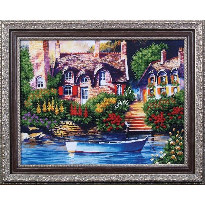 Набор для вышивания бисером МАГИЯ КАНВЫ арт.Б080 Сказочный пейзаж 1 42х33 см