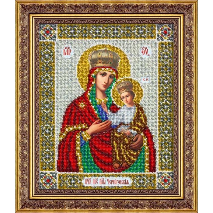Набор для вышивания бисером ПАУТИНКА арт.Б-1043 Пр.Богородица Черниговская 20х25 см