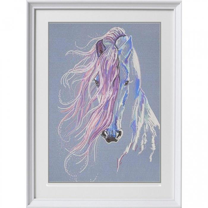 Рисунок на ткани (Бисер) КОНЁК арт. 8481 На встречу ветру 29х39 см