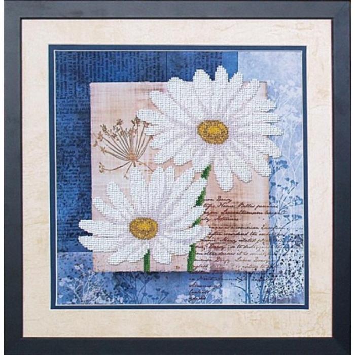 Набор для вышивания бисером МАГИЯ КАНВЫ арт.Б039 Цветы любви 1 26,5х26,5 см